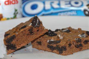 Receta paso a paso de brownie de Nutella y Oreo