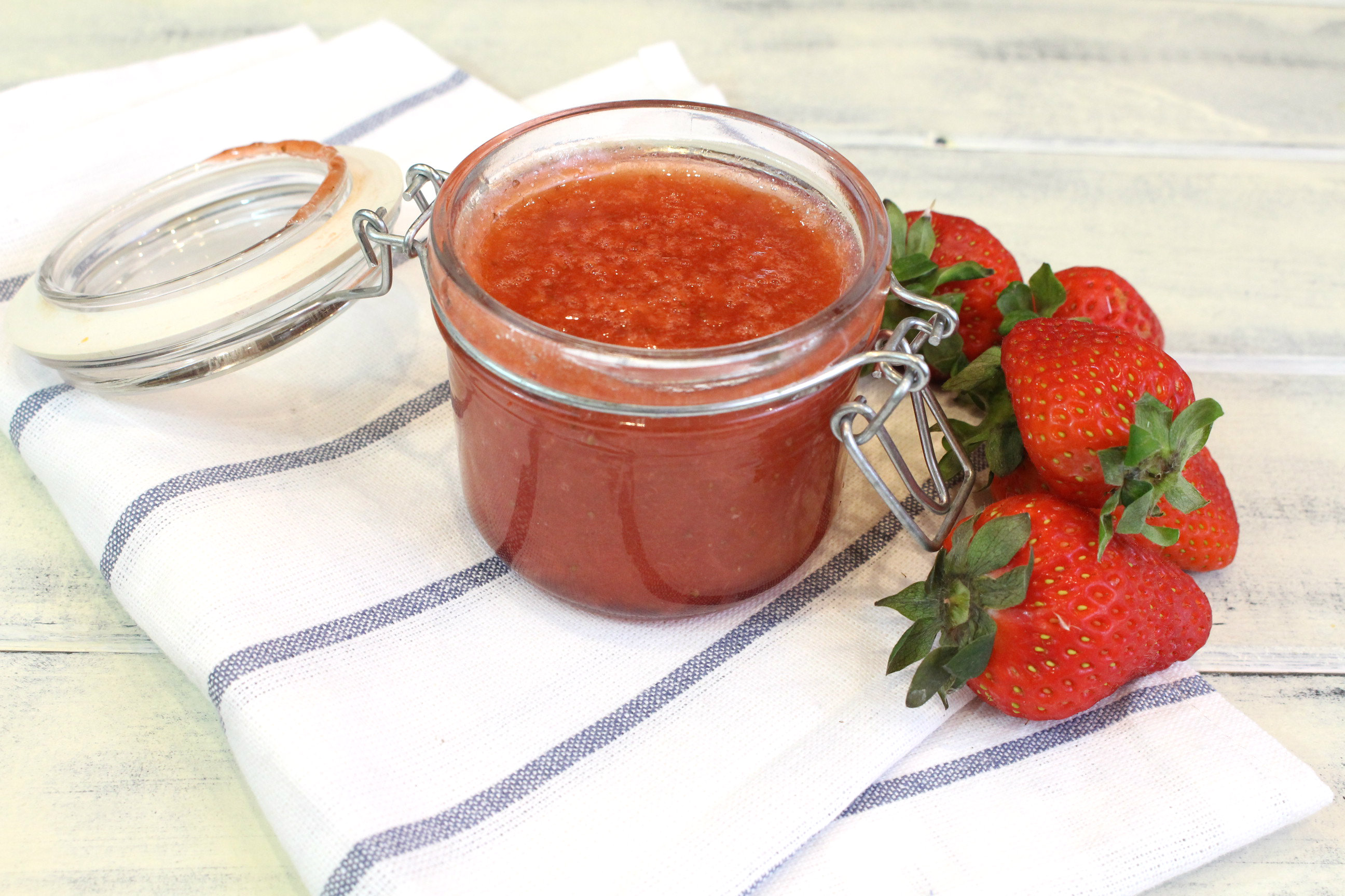 Receta de mermelada de fresas sin azúcar