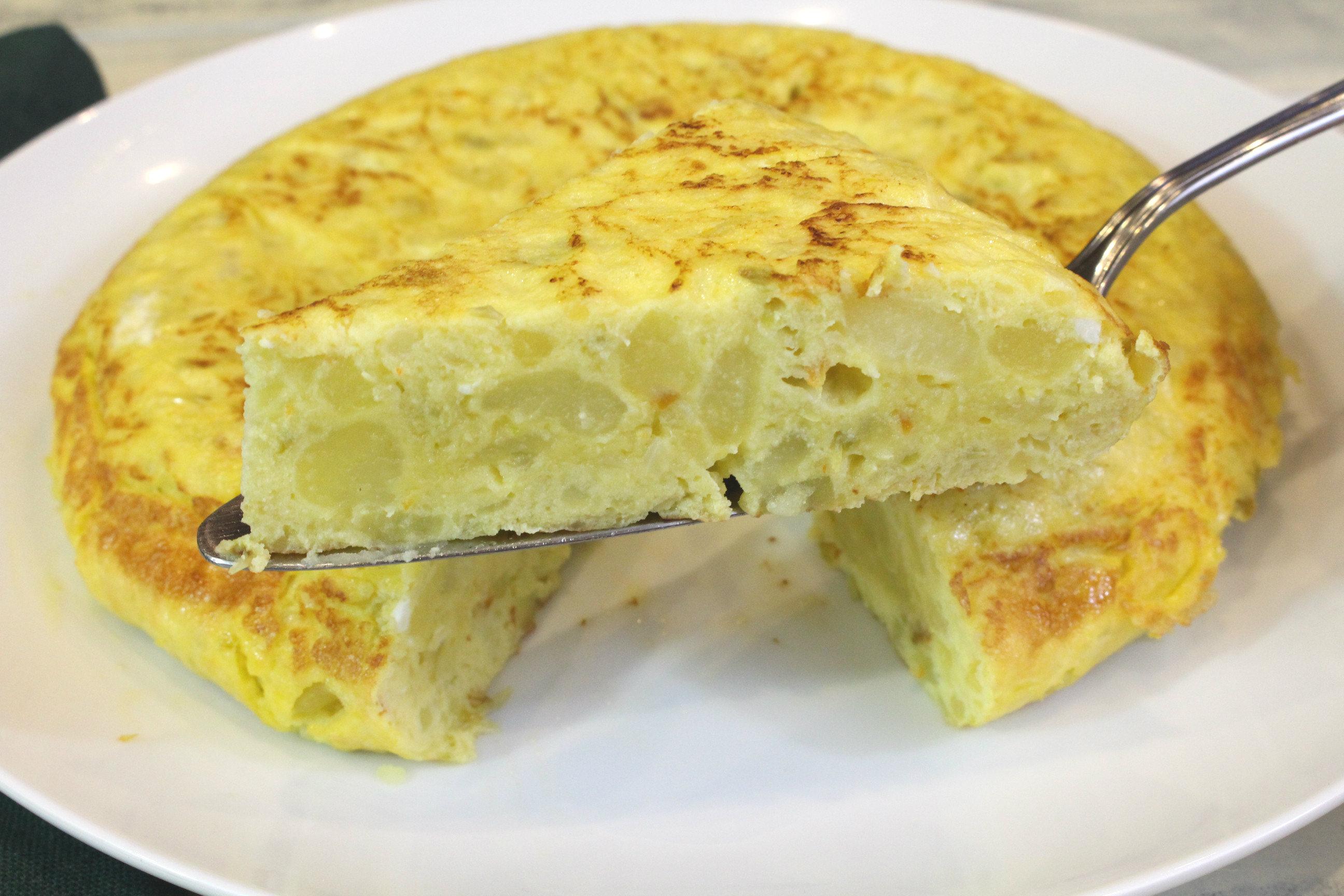 Receta de tortilla de patata y pimiento con Thermomix