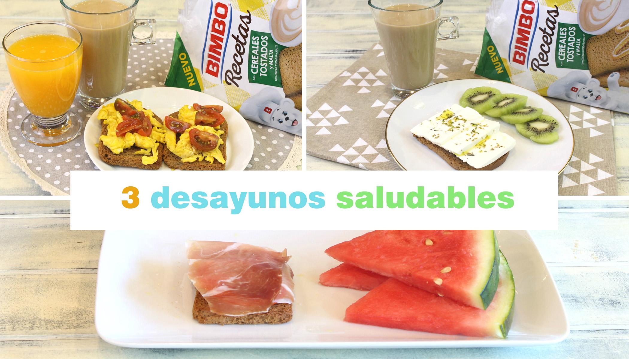 Receta de 3 desayunos saludables