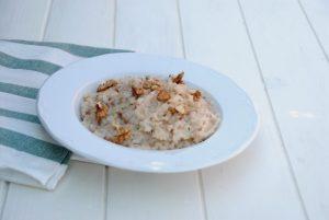 Receta de risotto de salchichas y nueces con Thermomix