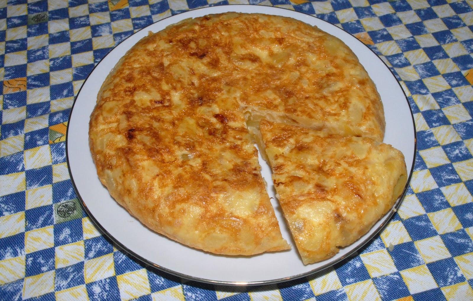 Receta de tortilla de patata española
