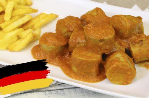 Receta alemana de currywurst
