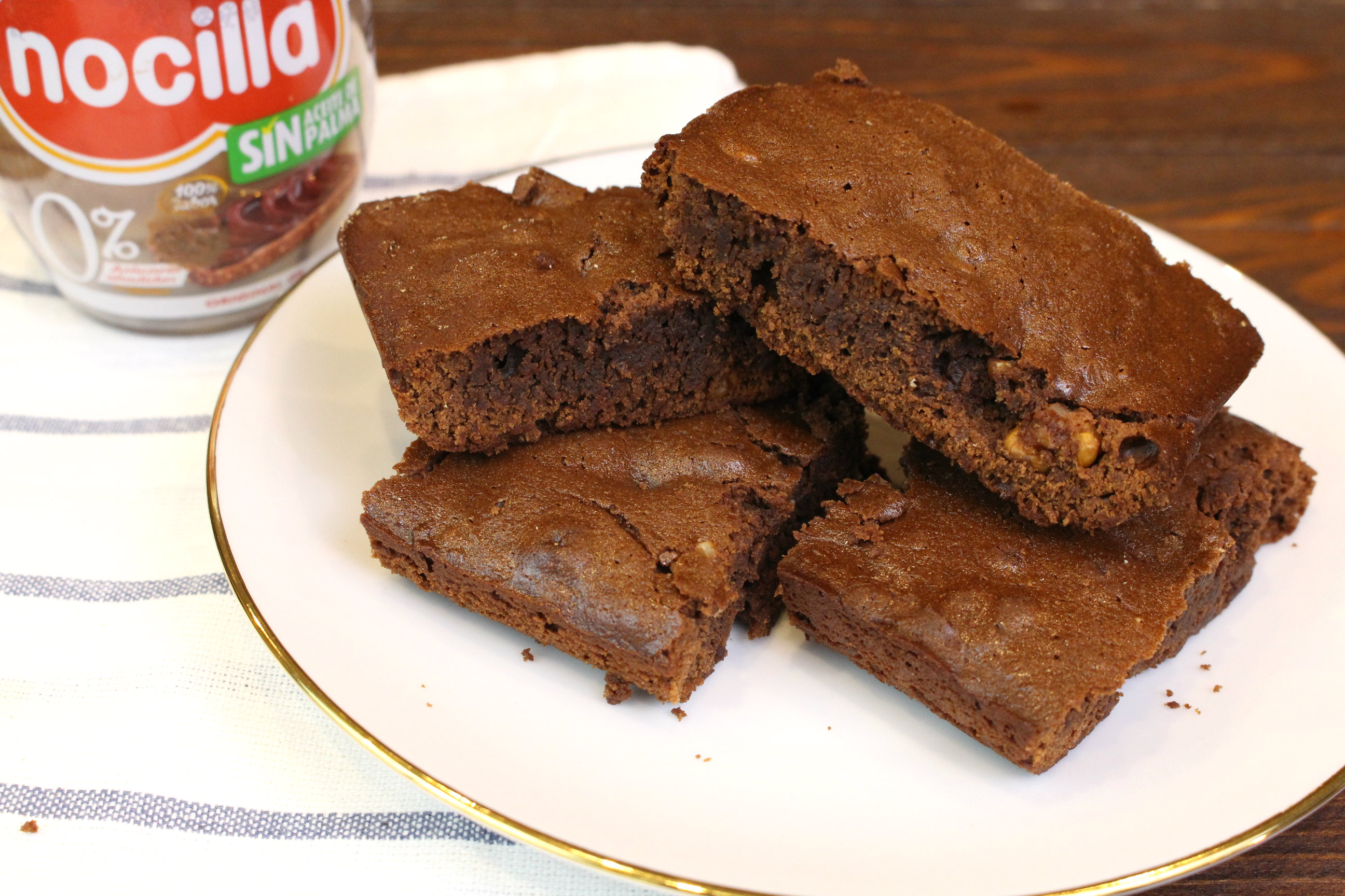 Receta de brownie de Nocilla con 3 ingredientes