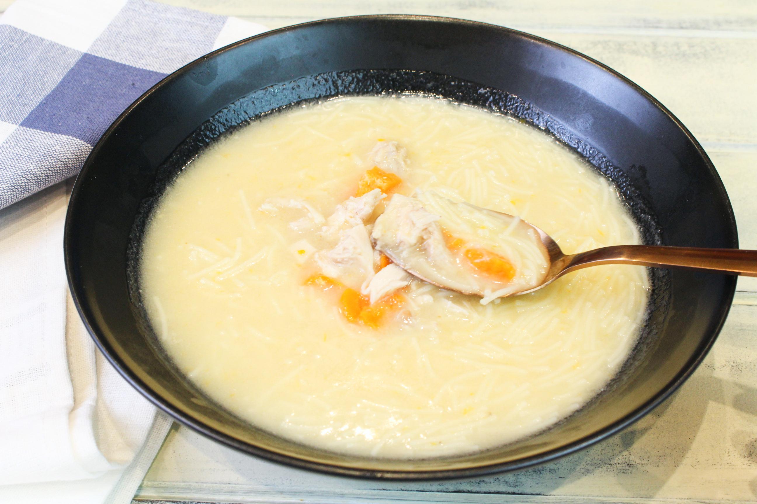Receta de caldo rápido de sopa en Thermomix