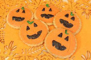 Receta de galletas calabaza para Halloween