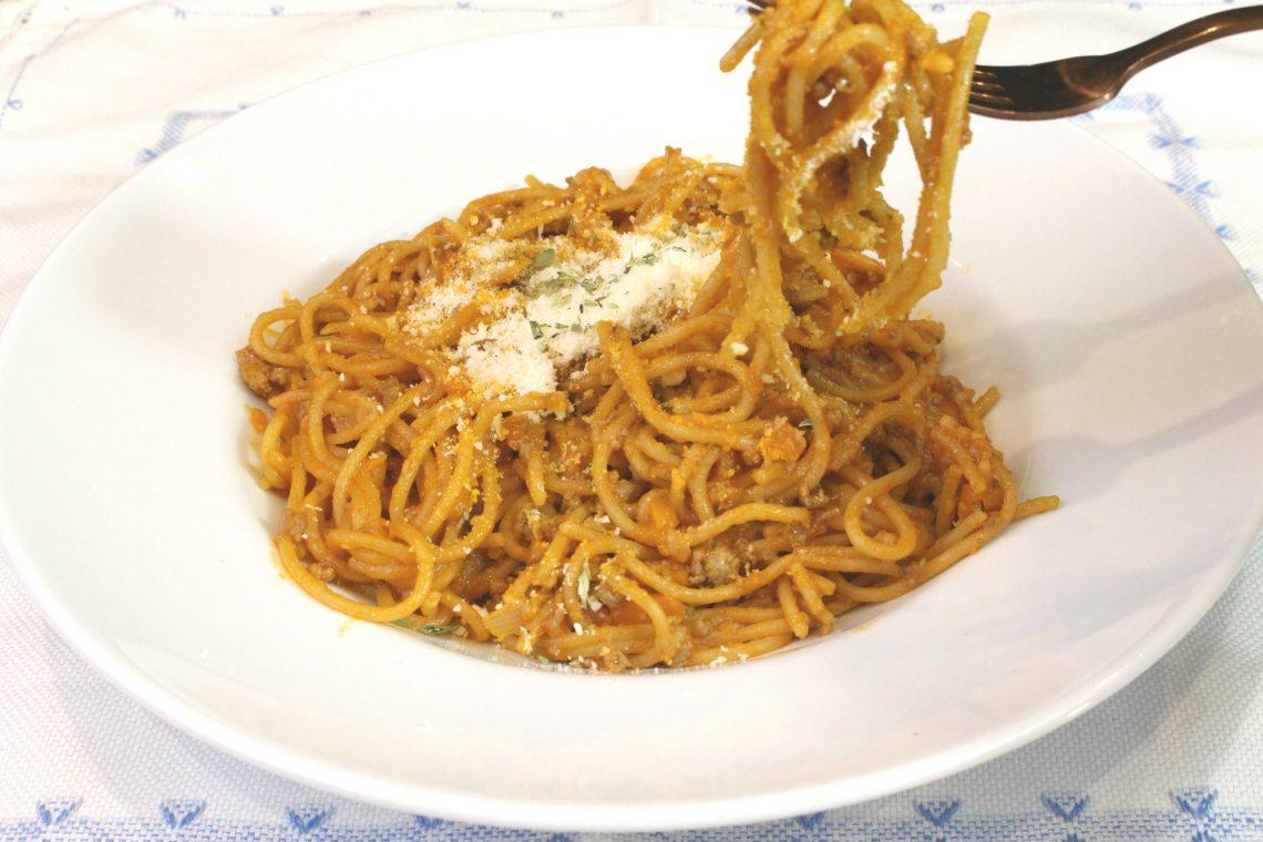 Receta de pasta boloñesa con Thermomix