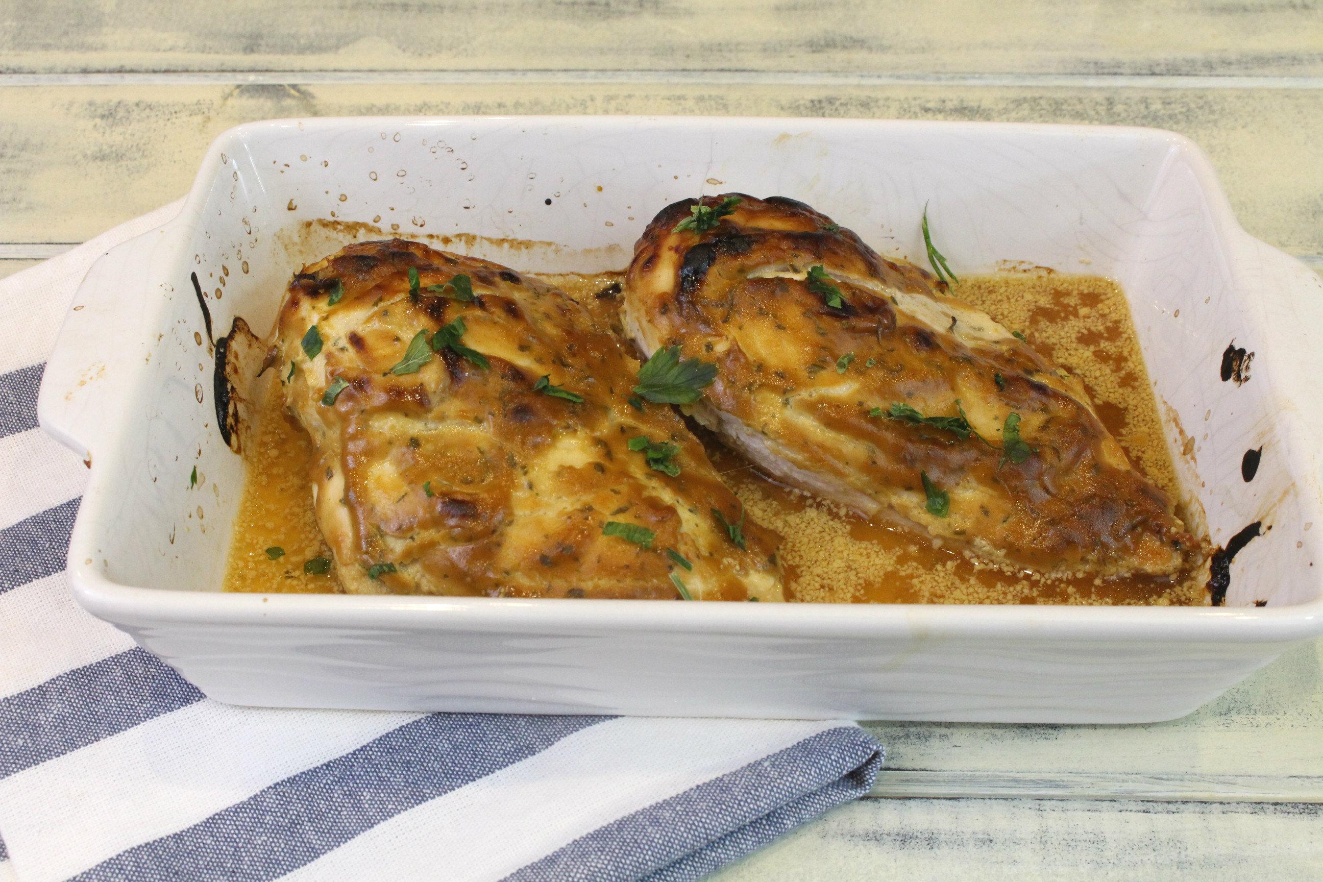 Receta de pechuga de pollo a la miel y mostaza