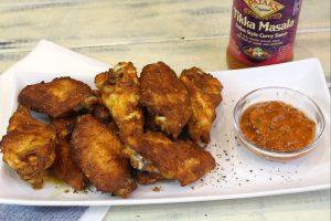 Receta de alitas de pollo especiadas al estilo indio