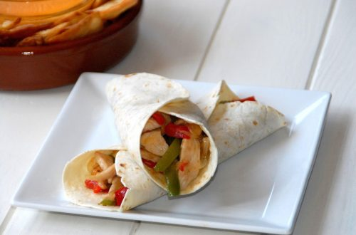 Receta de fajitas de pollo mexicanas