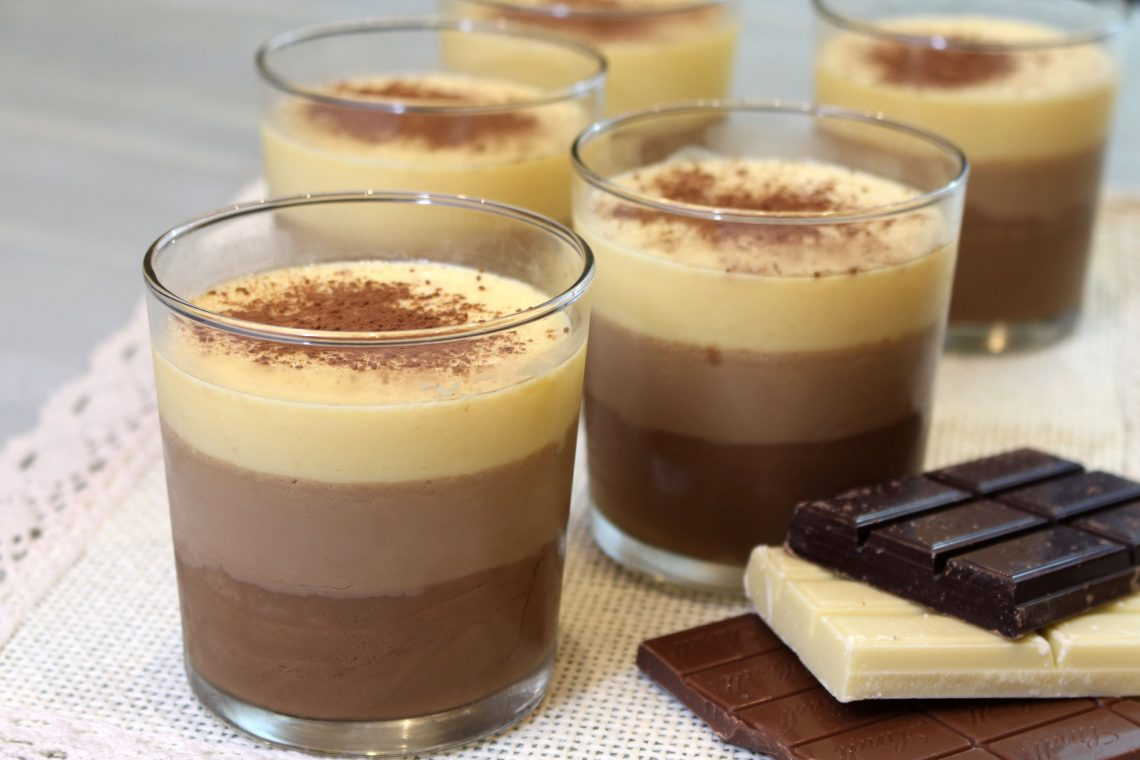 Receta de flan 3 chocolates con Thermomix