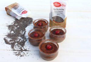 Receta de mousse de chocolate con semillas de chía