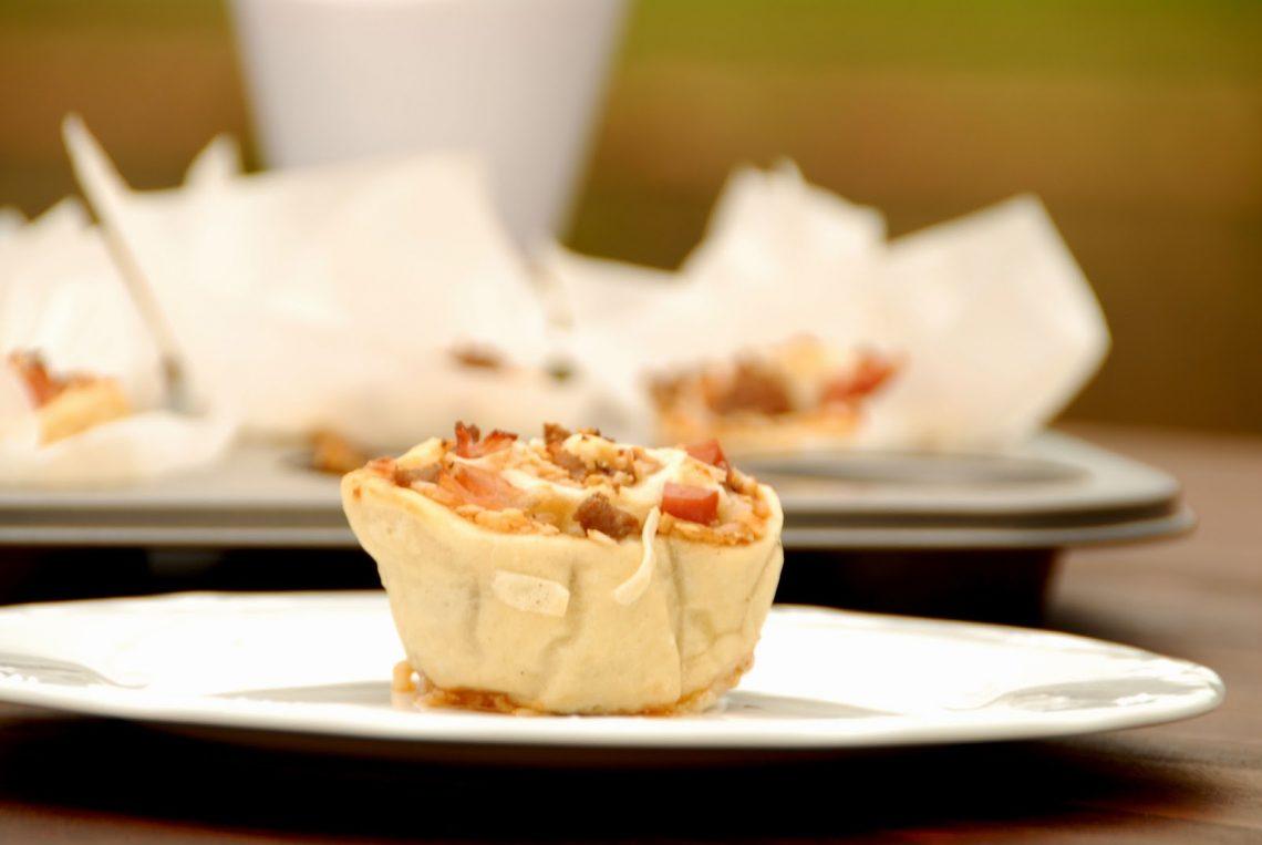 Receta de pizza muffins de barbacoa