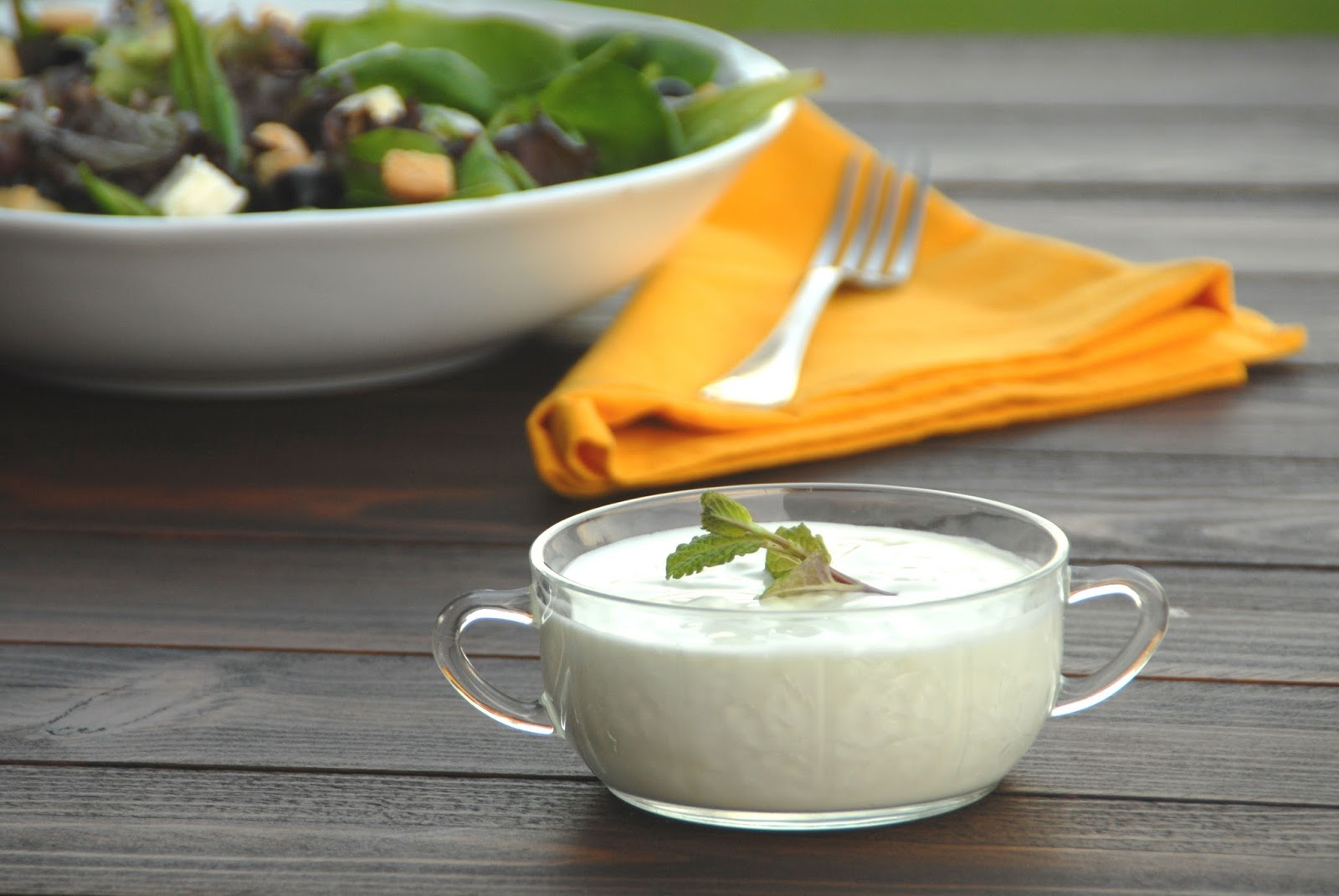 Ensalada receta salsa yogur