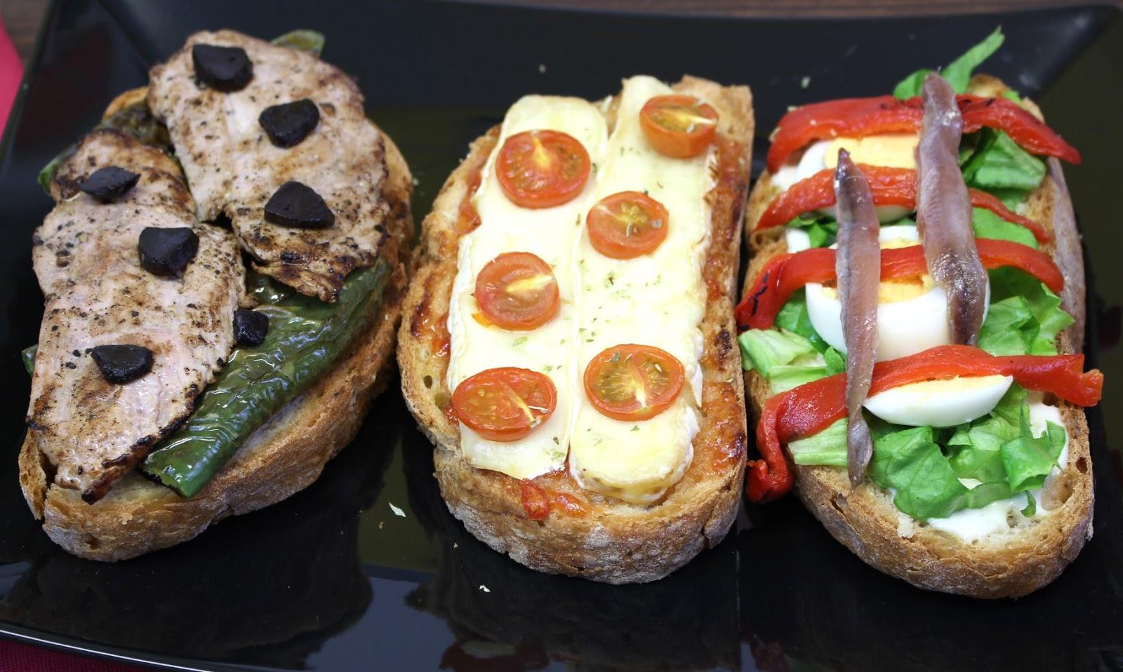 Receta de 3 tipos de tostas fáciles