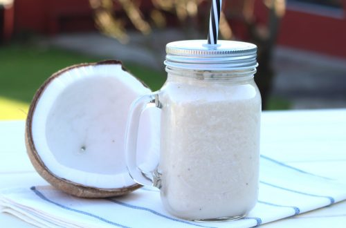 Receta de batido de coco natural y plátano
