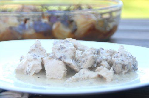 Receta de tacos de pollo con salsa gorgonzola en Thermomix