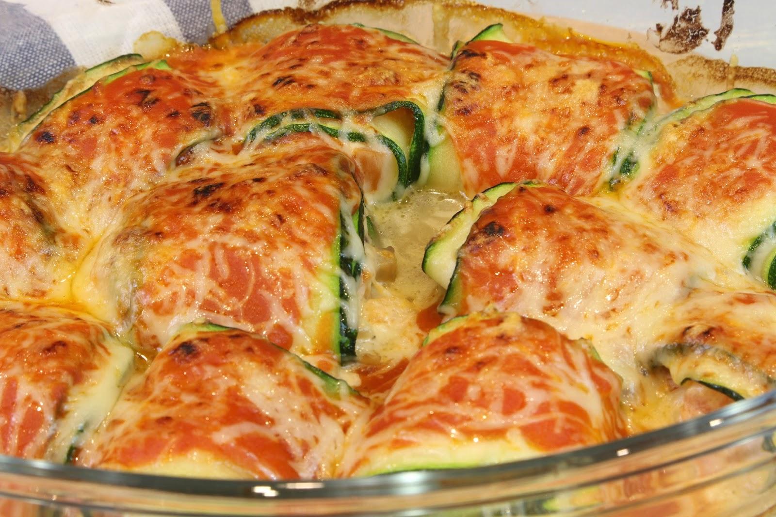 Receta de champiñones de calabacín rellenos de queso de cabra, champiñones y tomate