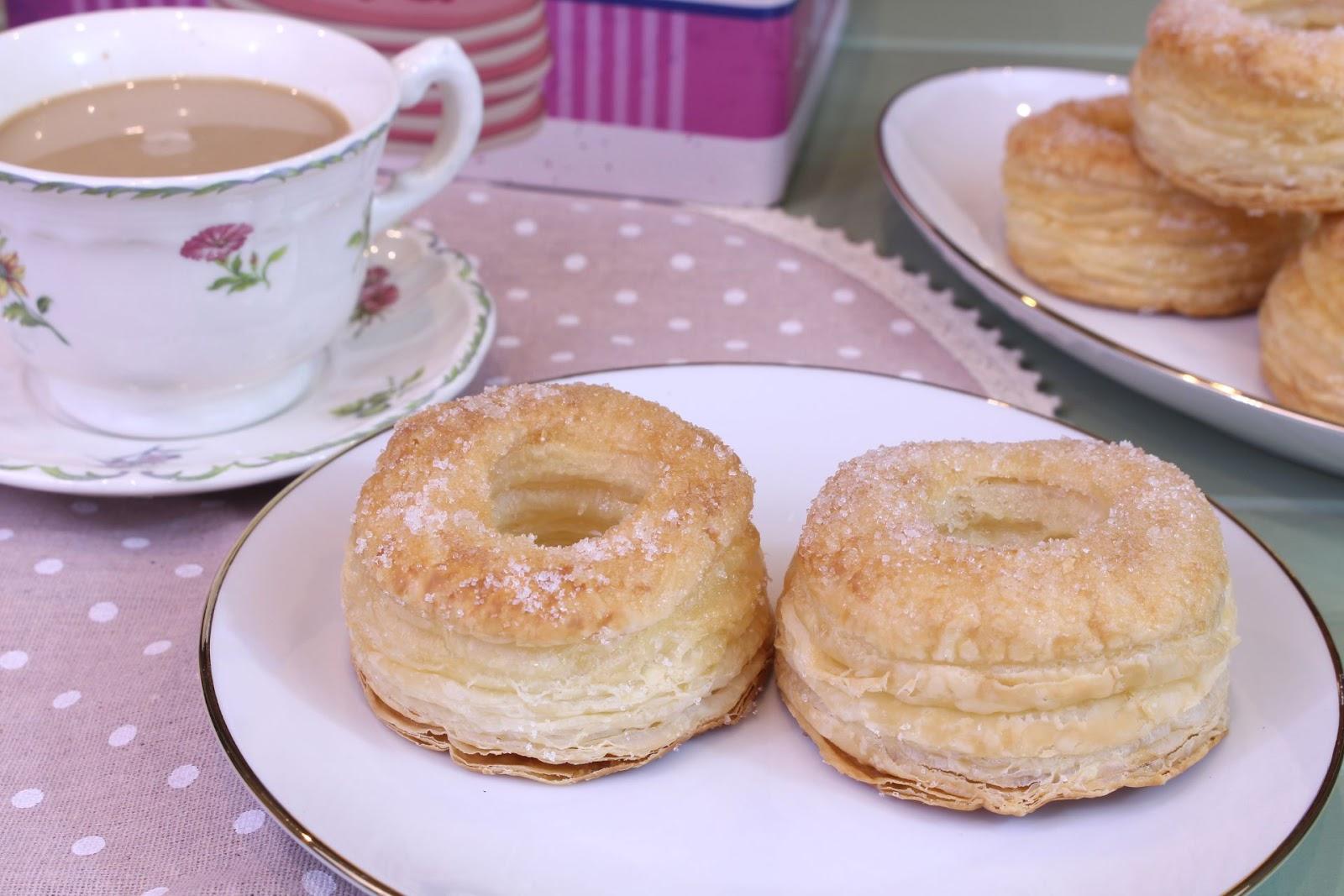 Receta de donuts de hojaldre