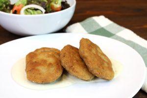 Receta de filetes rusos con salsa de 3 quesos