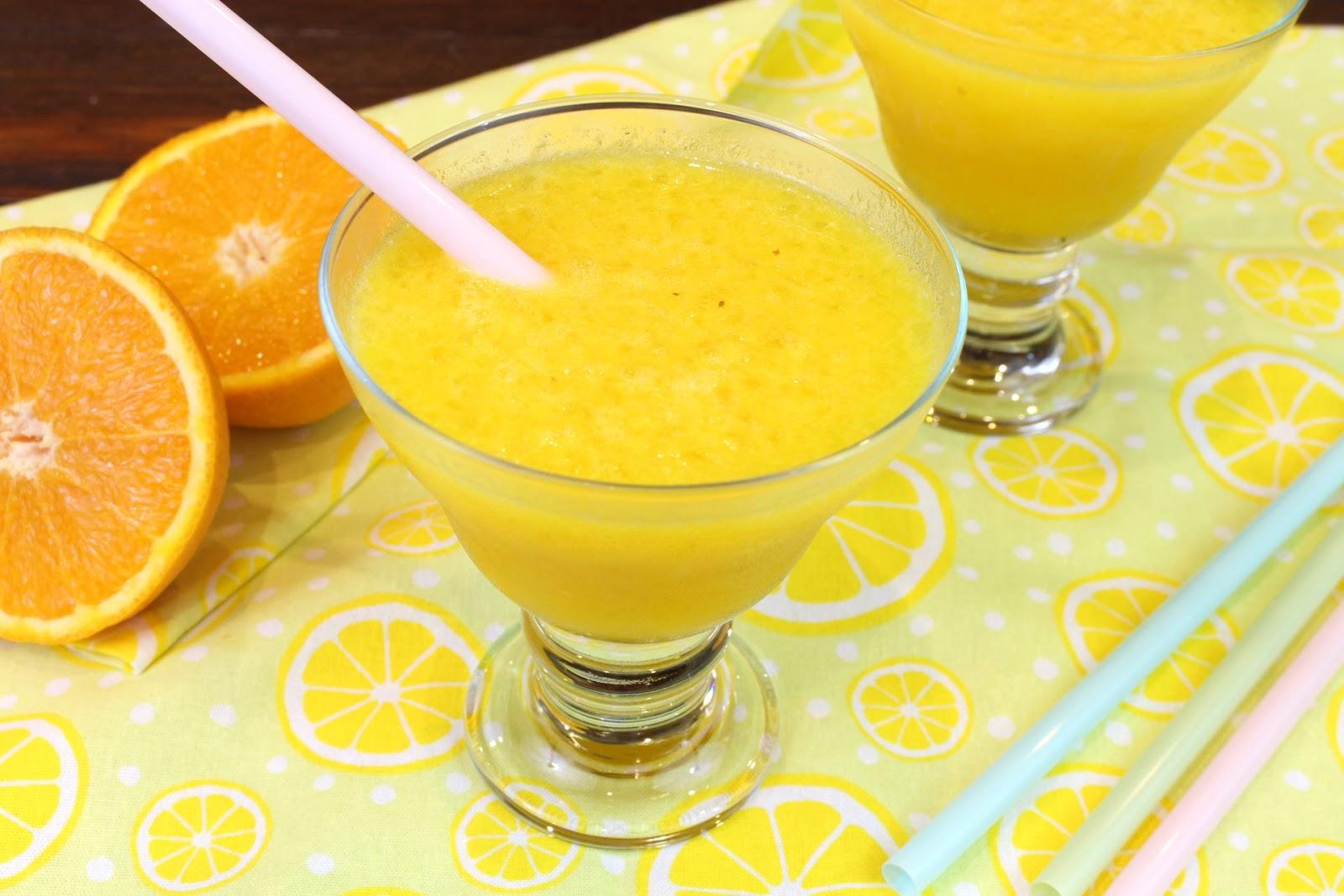 Receta de granizado de naranja con Thermomix