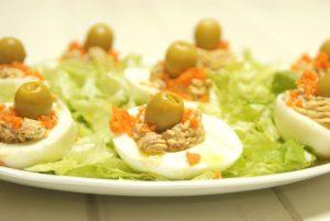 Receta de huevos rellenos de jamón con Thermomix