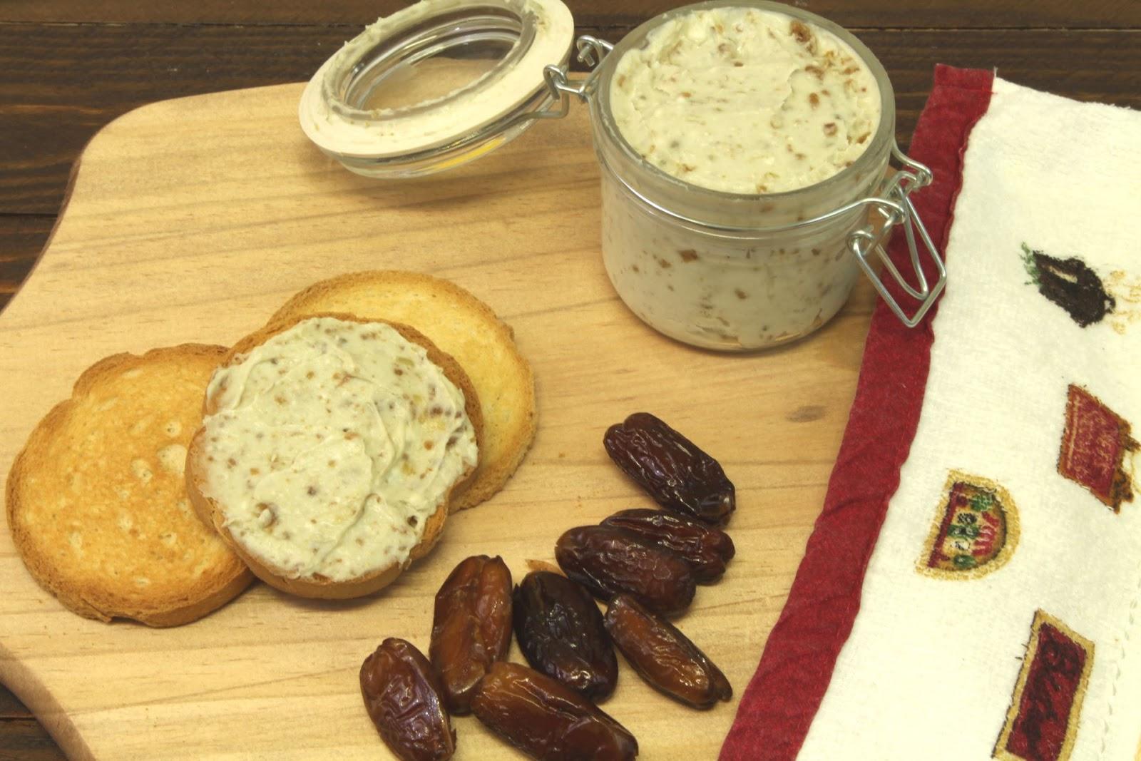 Receta de paté de queso azul y dátiles con Thermomix