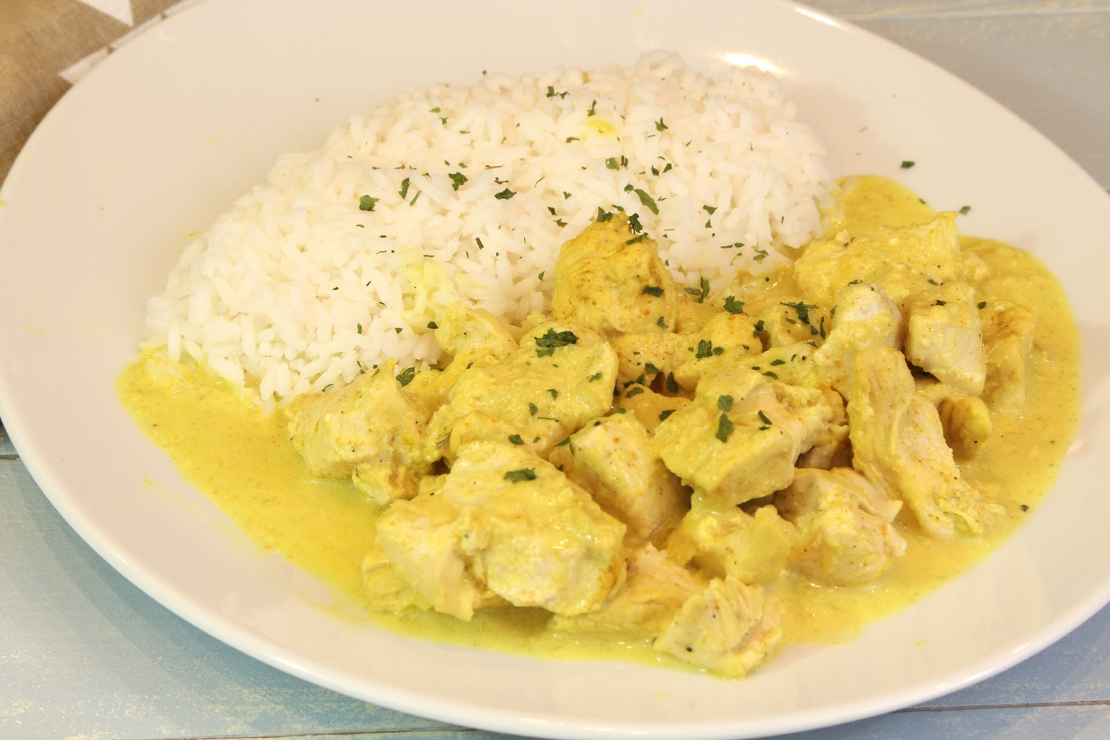 Receta de pollo al curry con Thermomix