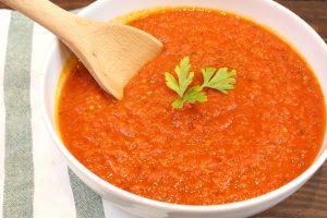 Receta de salsa de tomate casera con o sin Thermomix