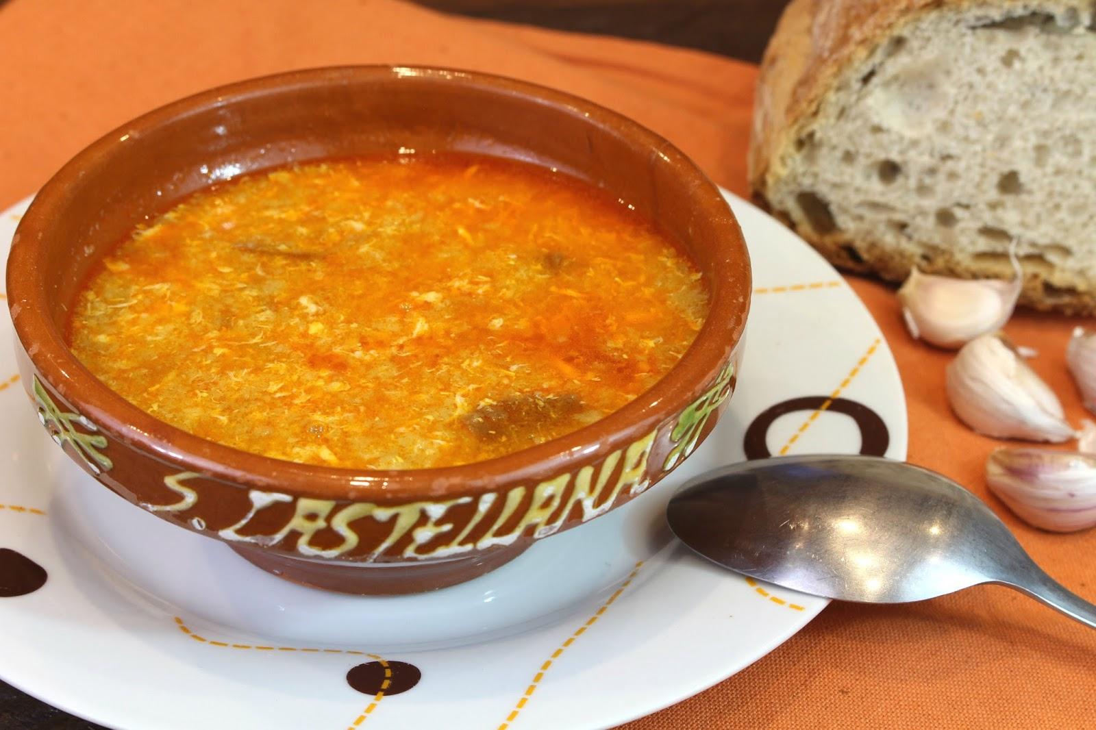 Receta de sopa de ajo o sopa castellana con Thermomix