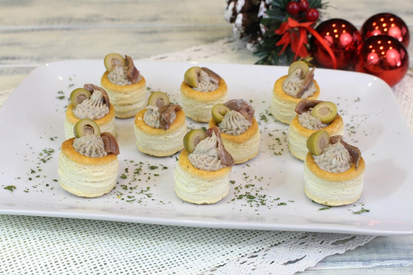 Receta de volovanes de paté de sardinas con o sin Thermomix