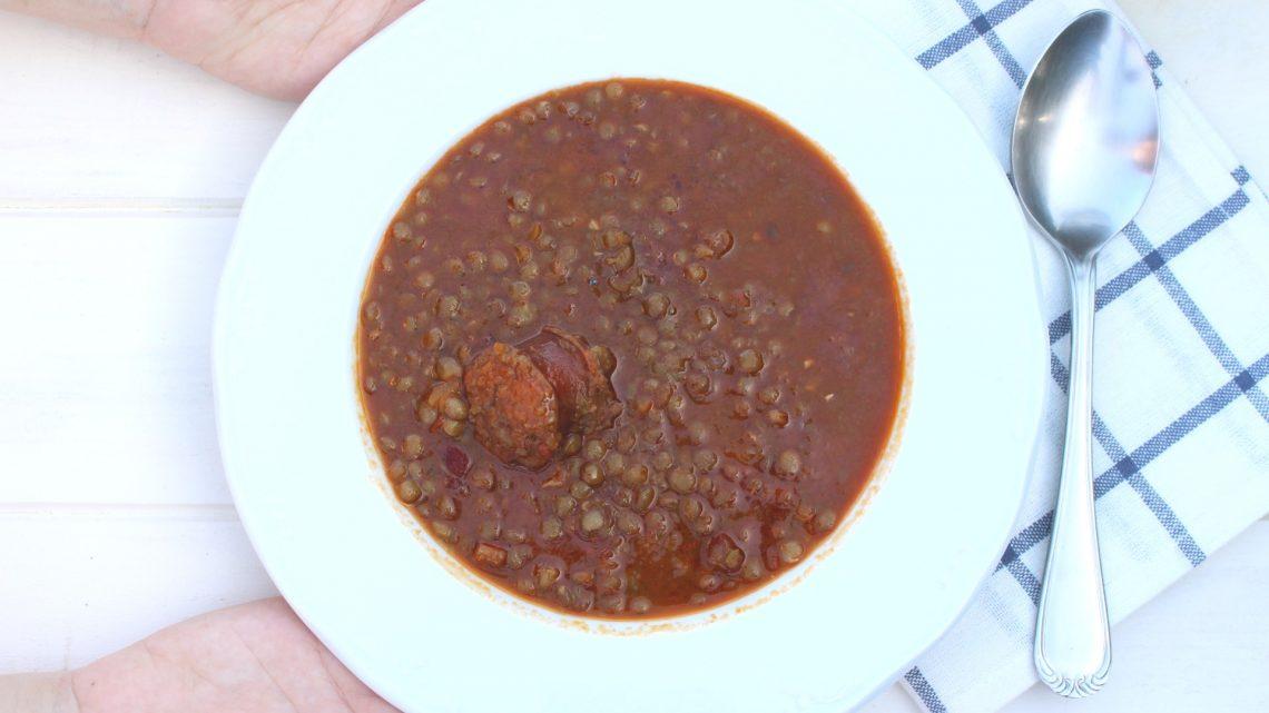 Receta de lentejas con verduras y chorizo en Mambo
