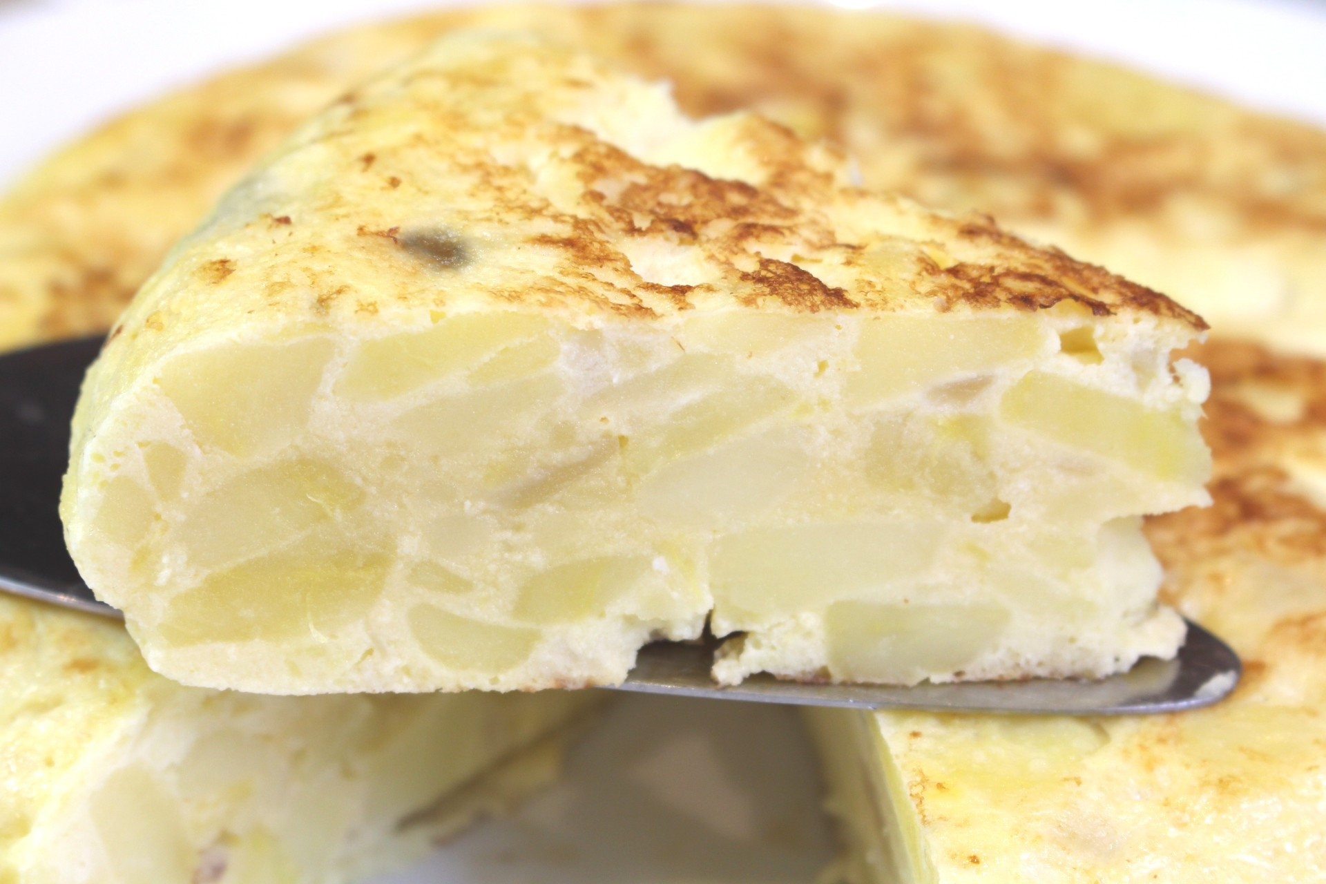 Receta de tortilla de patata light
