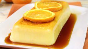 Receta de flan rápido de naranja con Thermomix