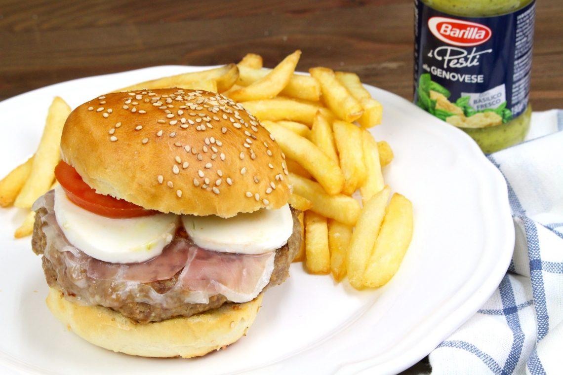 Receta de hamburguesa al estilo italiano