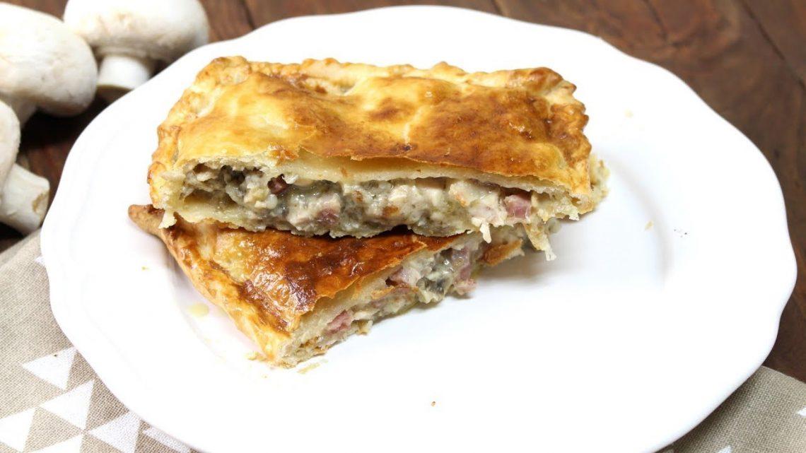 Receta de relleno para empanada o empanadillas de pollo, champiñones y bacon con Thermomix