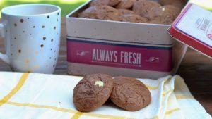 Receta de galletas de leche condensada y dos chocolates con Thermomix