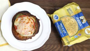 Receta de milhojas de verduras con queso de cabra