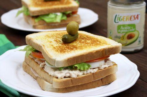 Receta de sandwich vegetal con atún