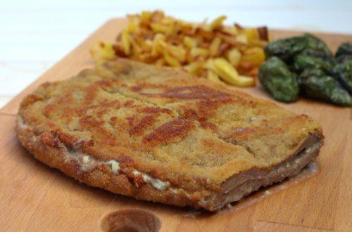 Receta de cachopo de queso azul y jamón