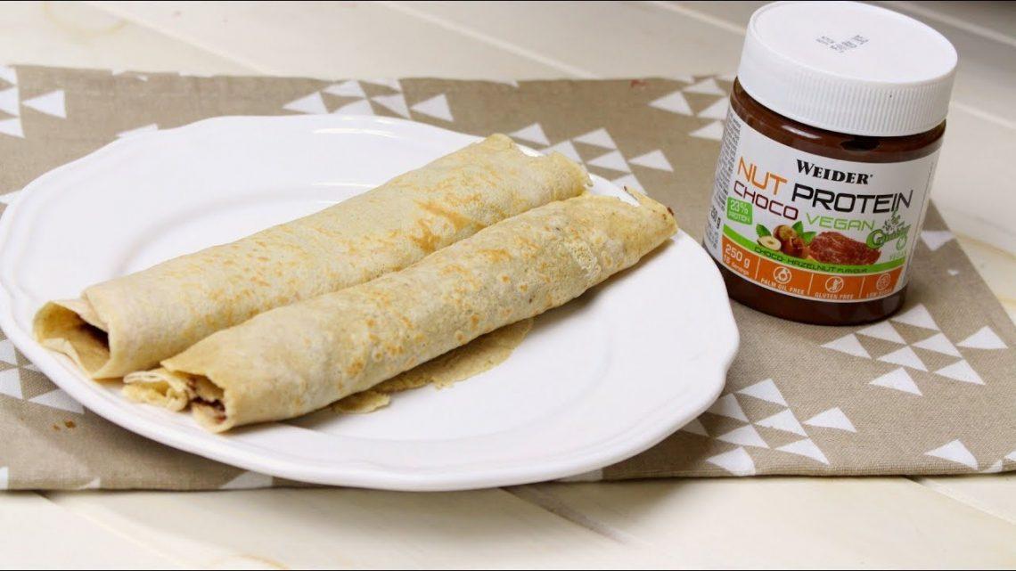 Receta de crepes rellenos de crema de cacao saludables
