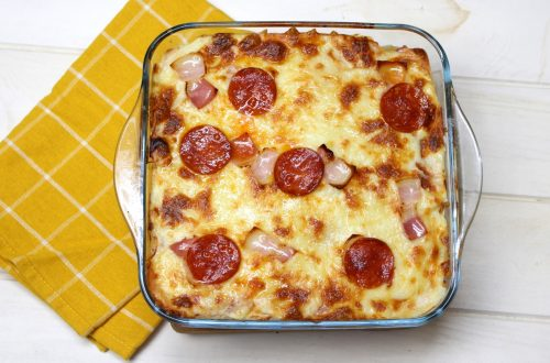 Receta de pastel pizza de pan de molde