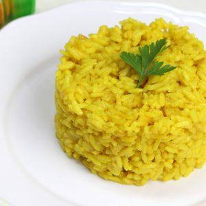 Receta de arroz con cúrcuma de guarnición