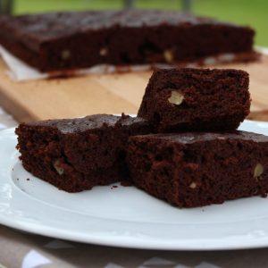 Receta de brownie rápido con Thermomix