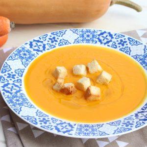 Receta de crema de calabaza y zanahoria con Mambo