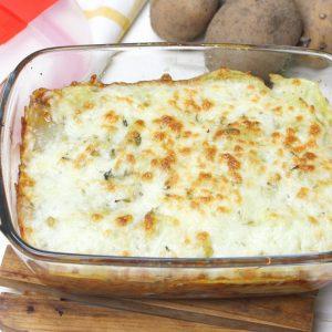 Receta de lasaña de patata