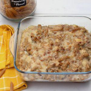 Receta de macarrones con carne picada y queso manchego en Thermomix