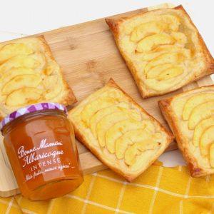 Receta de pastelitos de manzana, hojaldre y crema pastelera