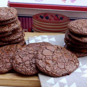 Receta de cookies brownie de chocolate en Mambo