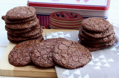 Receta de cookies brownie de chocolate en Mambo